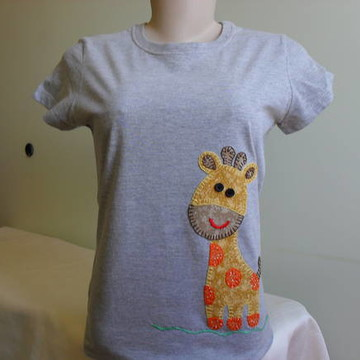 Camiseta Baby Look - Girafinha