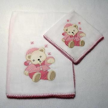Babita E Fralda - Ursinho (rosa)
