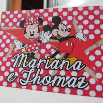 Convite Infantil - Mickey e Minnie