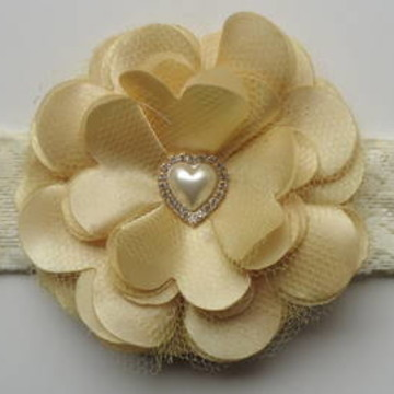Headband Renda Flor