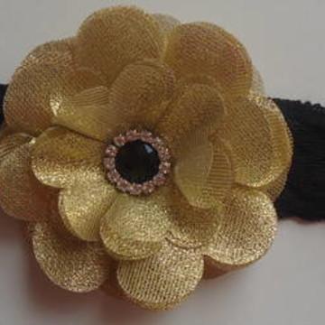 Headband Flor Dourada