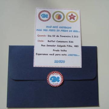 Convite Tema Fundo do Mar