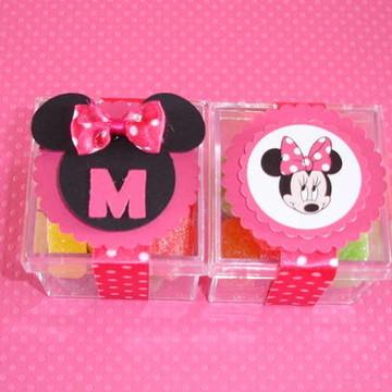 Caixinha em Acrílico Tema Minnie Pink