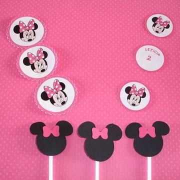 Tag Personalizados Tema Minnie Pink