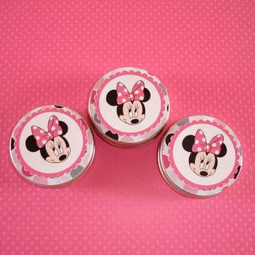 Latinha Personalizadas Tema Minnie Pink