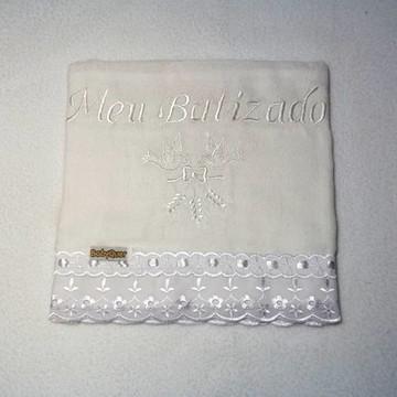 Fralda Meu Batizado (branca)