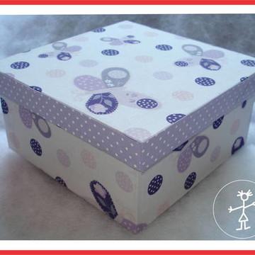 Caixa MDF borboletas lilás