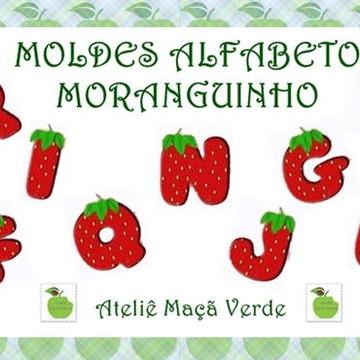 MOLDE ALFABETO FESTA MORANGUINHO