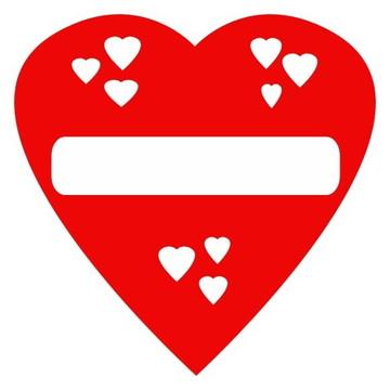 Adesivo Coração Amiga Solteira