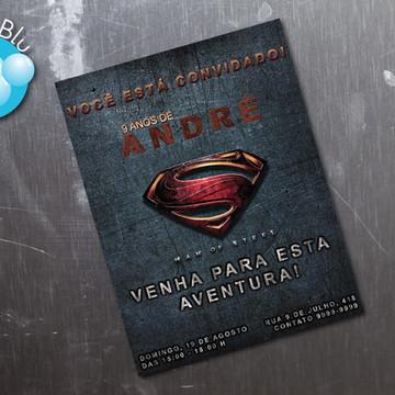 Novo Super Homem Convite Personalizado