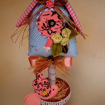 Vaso Decorativo(casinha de passarinho)