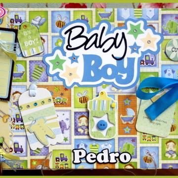 Álbum Fotos e Recados Bebê Menino (1)