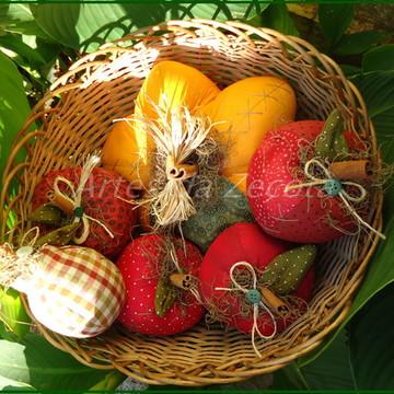 Frutas de patchwork (maças e peras)