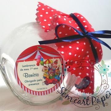 Mini Baleiro Circo Vermelho