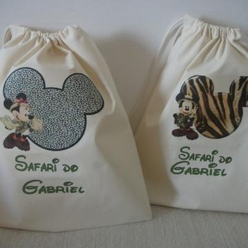 Sacolinha Ecologica Mickey Safari