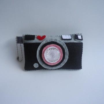 Chaveiro Câmera fotográfica em feltro
