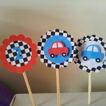 Toppers cupcake/docinho carros