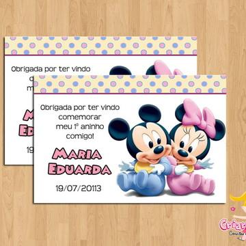 Tag Disney Baby Minnie e Mickey