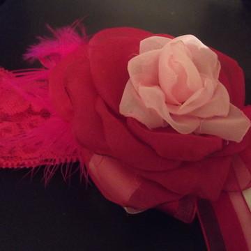 Faixa flor na cor pink