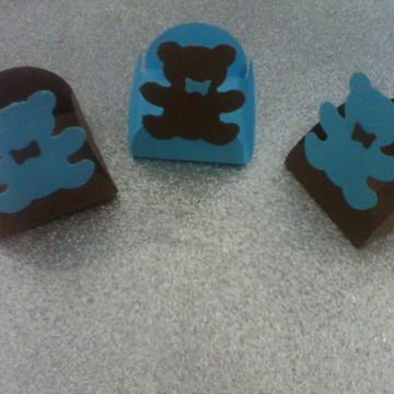 Forminhas Ursos Marrom e Azul