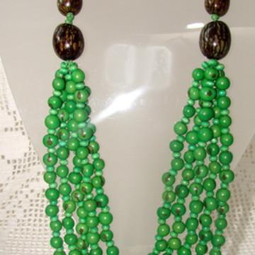 Maxi colar De Açaí Verde (5v)