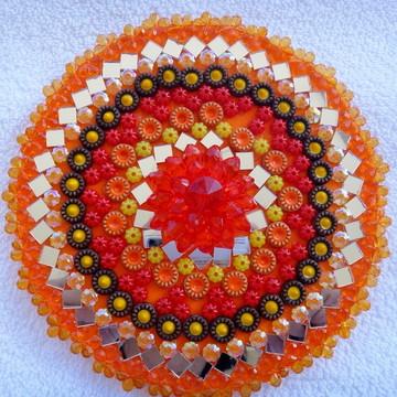 Mandala Iansã/oya C/ Pedras Espelhos 3