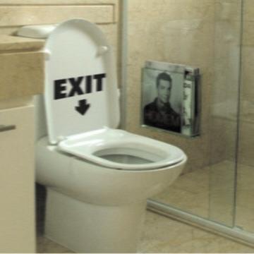Adesivo De banheiro - Exit