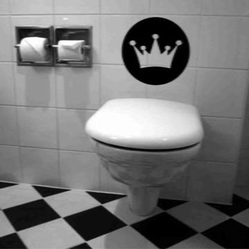 Adesivo De Banheiro - Coroa de rei