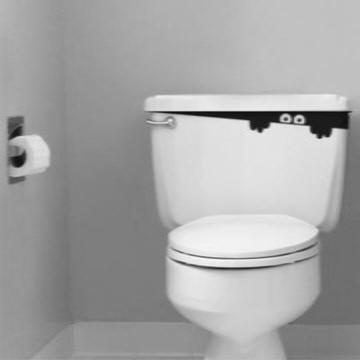 Adesivo De Banheiro - Espiando