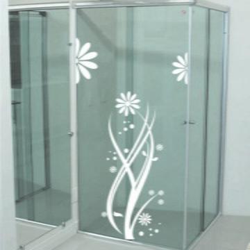 Adesivo Para Box Banheiro - flores