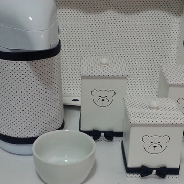 Kit Higiene Urso Azul Marinho