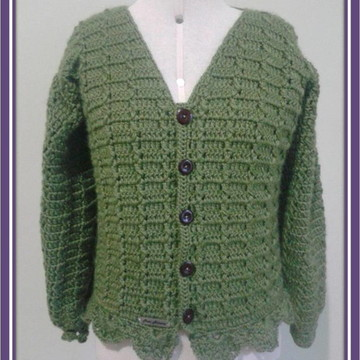 Cardigan Crochê