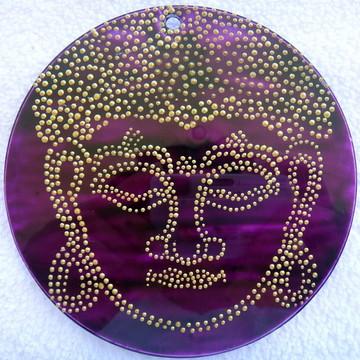 Mandala Vitral Buda Dourado