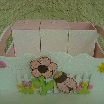 Kit Higiene Flor e Joaninha