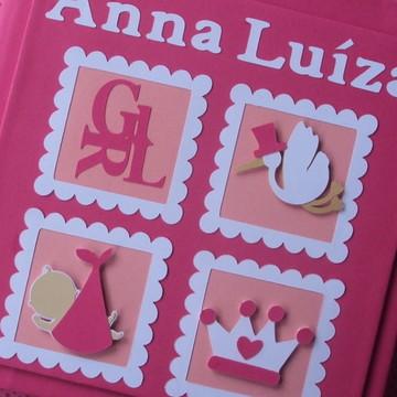 Livro Do Bebê Personalizado menina princesa pink
