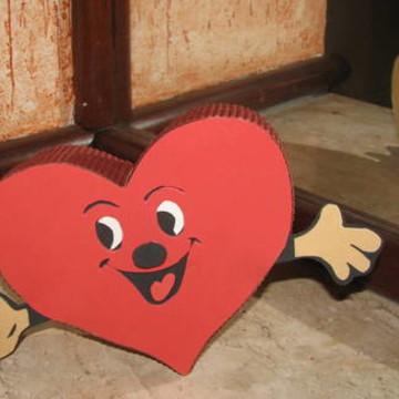 embalagem coração médio