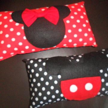Almofada Minnie E Mickey ( 28x16cm)