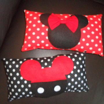 Almofada Minnie E Mickey ( 25x13cm)