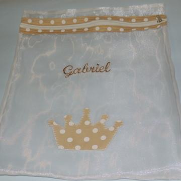 Saquinho Para Maternidade Coroa e nome