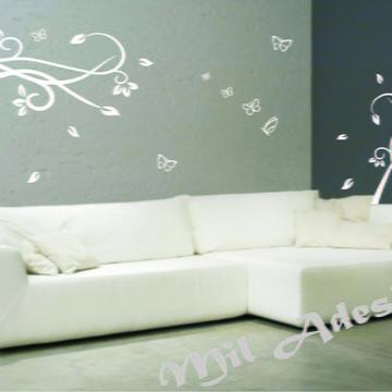 Decoração de sala de estar com arabescos