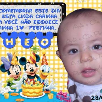Convite Personalizado - Turma do Mickey