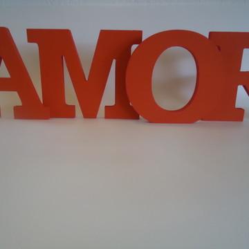 Amor em Letra Caixa-Vermelho
