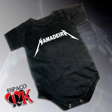 Body p/ Bebê Mamadeira (Metallica)