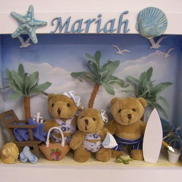 Enfeite porta Maternidade Ursos na Praia