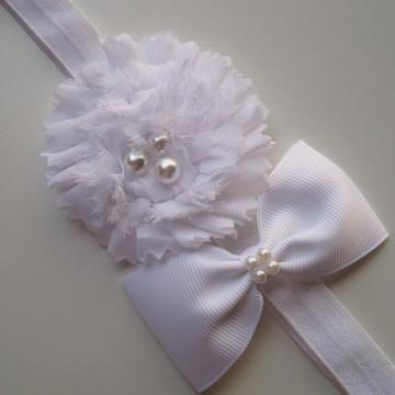 Headband Flor e Laço