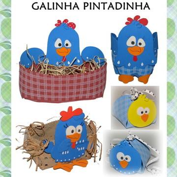 MOLDE DECORAÇÃO GALINHA PINTADINHA