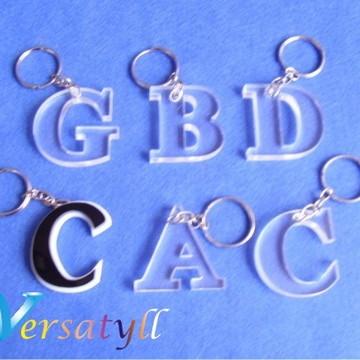 fee02fe3628b8 Chaveiro Acrilico Transparente Letras