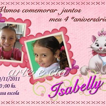 Convite Personalizado Gatinha Marie