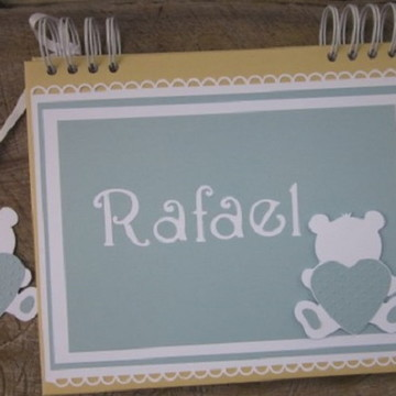 caderno personalizado mensagens maternidade chá bebê ursinho