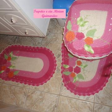 Jogo De Banheiro rosa 3 Peças